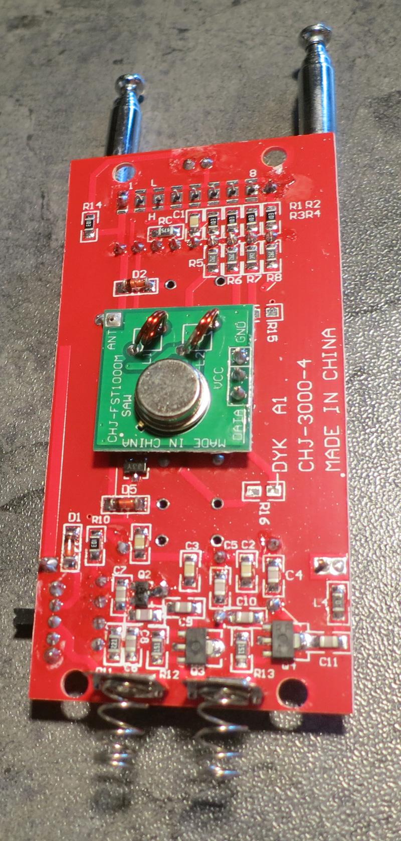 Circuit imprimé du brouilleur, deuxième face