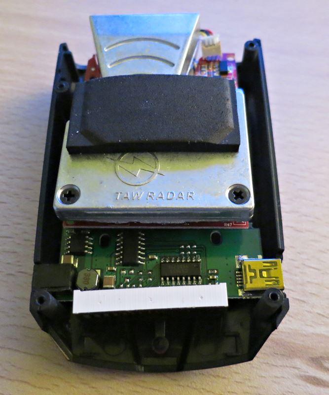 Détecteur V7 démonté, coté écran