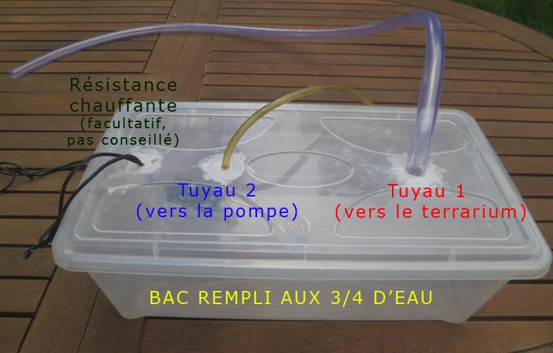 Matériel pour la fabrication d'un humidificateur de terrarium