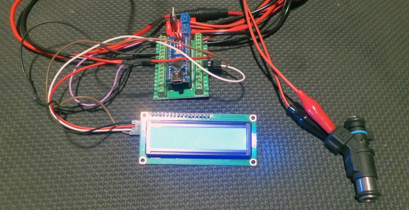 Testeur d'injecteurs Arduino version 2 avec écran