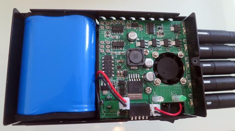 Batterie du brouilleur