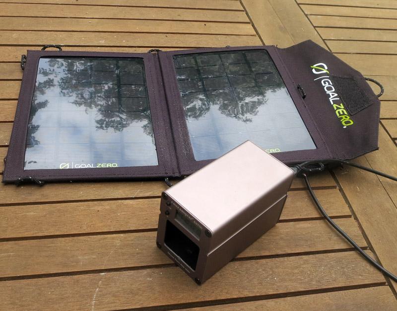 Recharge par panneau solaire
