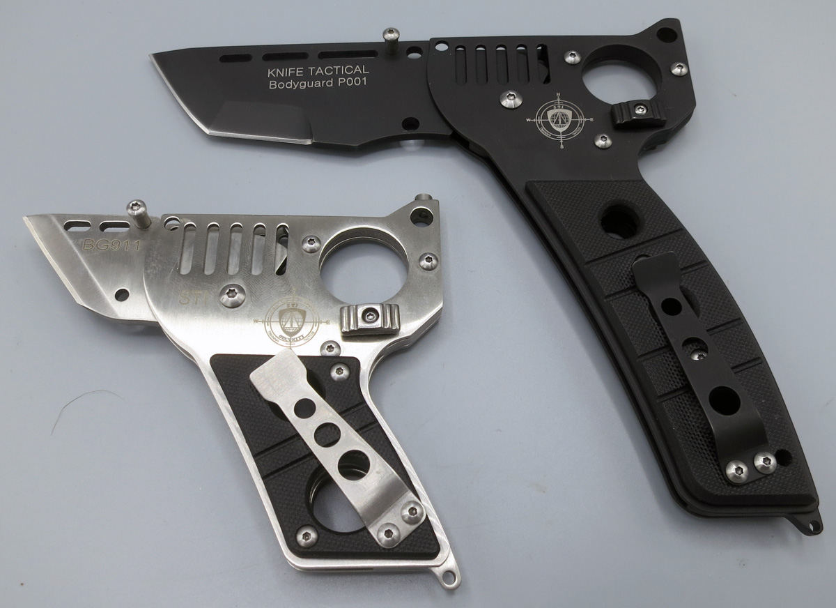 Couteaux BG911 et P001, position pistolet