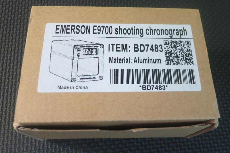 Chronographe Emerson dans sa boîte
