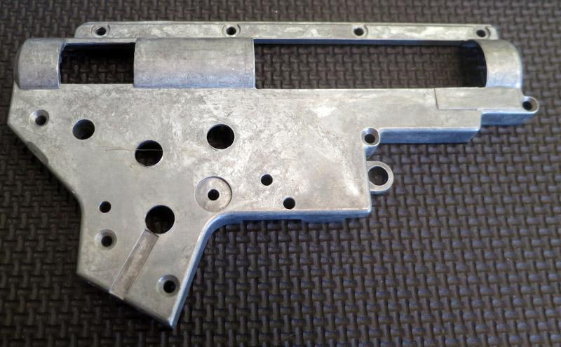 Coque de gearbox avant microbillage