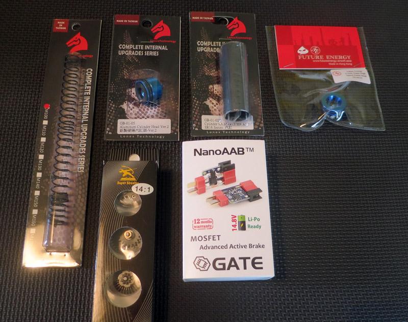 Quelques pièces de gearbox V2