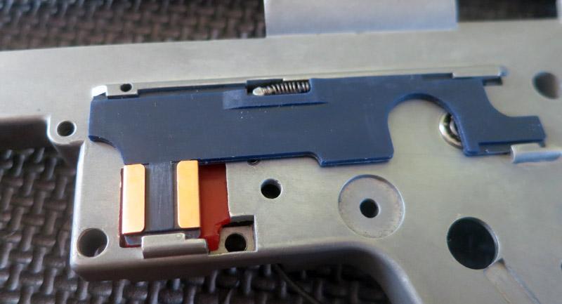 Selector plate Lonex monté sur la gearbox